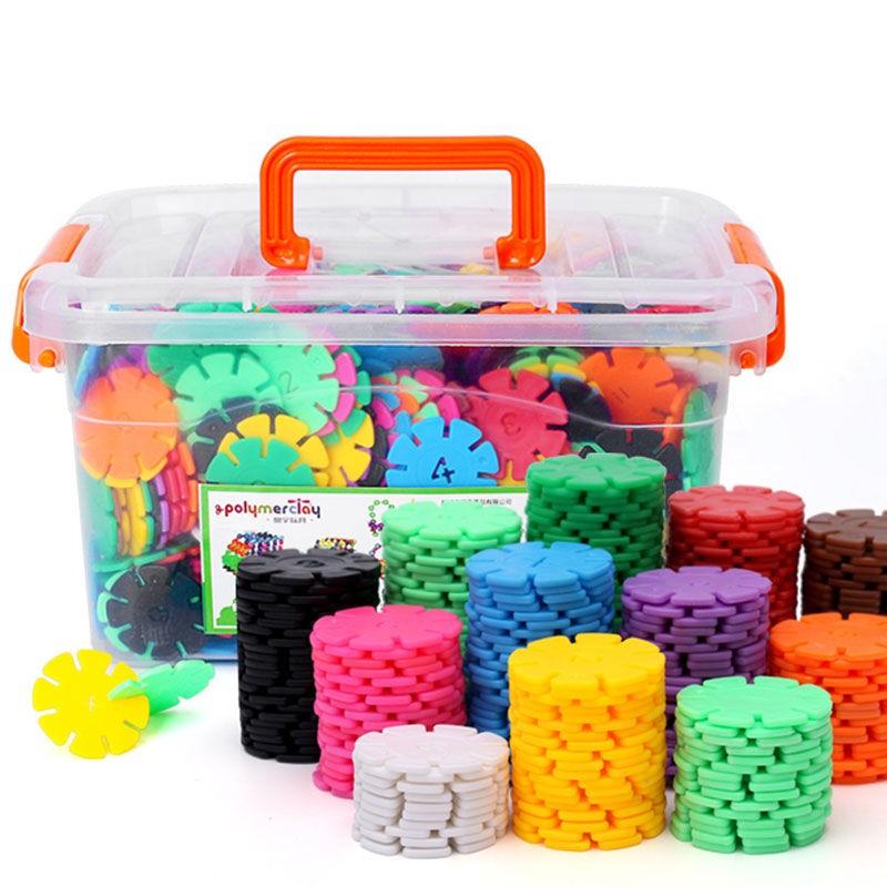 儿童积木 大号雪花片塑料玩具2-3-6-8周岁益智男女孩宝宝拼装拼插