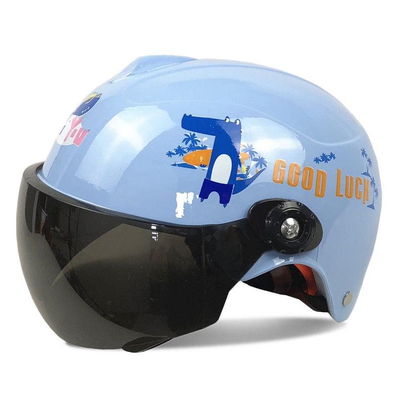 儿童头盔电动车摩托车中小童夏季哈雷盔小孩安全帽宝宝安全帽