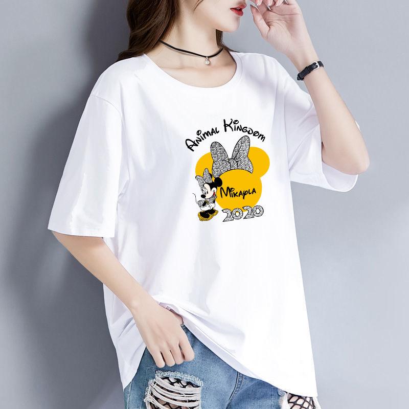 2020夏季新款白色韩版显瘦百搭短袖t恤女宽松大码女装学生潮