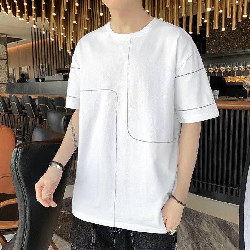 【买一送一】夏季新款短袖t恤男宽松韩版潮