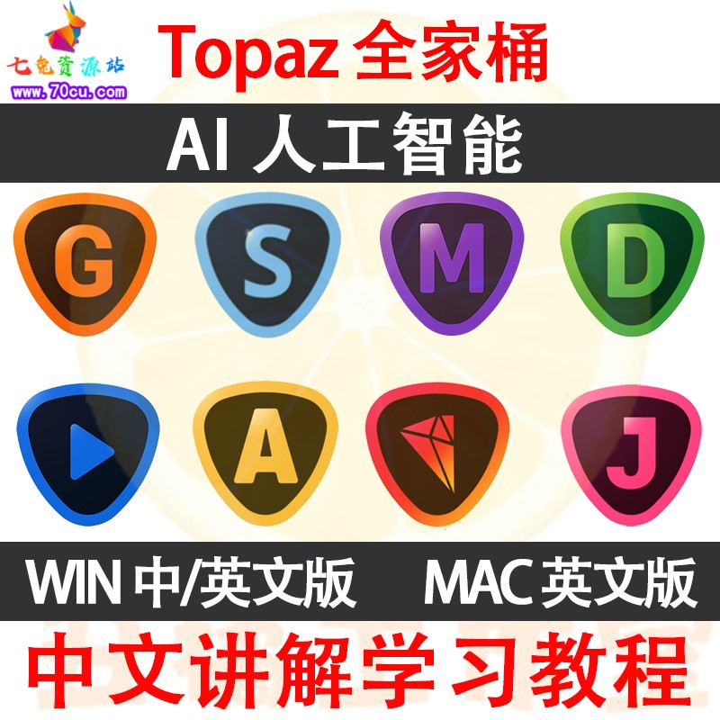 Topaz Labs AI人工智能图片视频处理全家桶全系列中文汉化win+mac