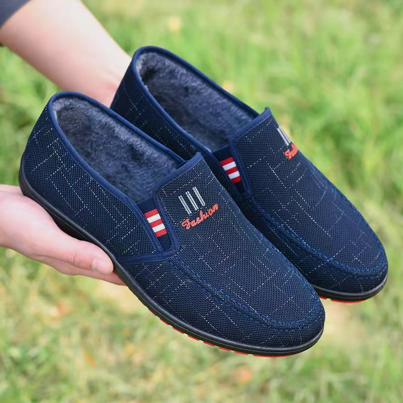 男士老北京布鞋春季棉鞋男豆豆鞋休闲板鞋