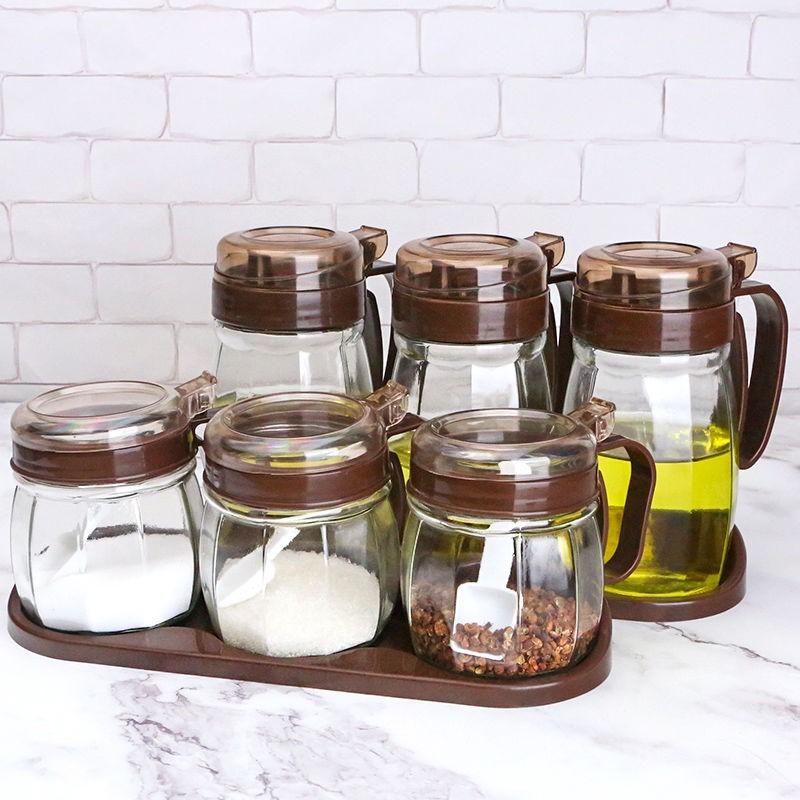 玻璃调料盒调味罐组合套装家用油壶酱油瓶醋瓶香油瓶盐罐厨房用品
