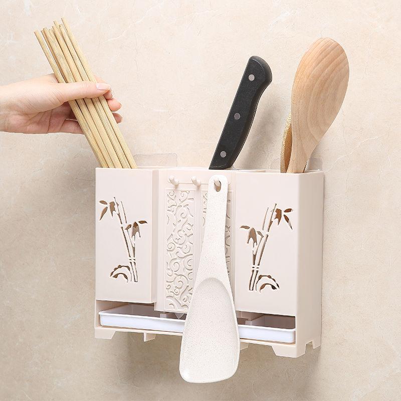 筷子笼挂壁式多功能立式筷子筒家用免打孔