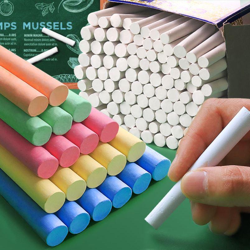彩色无尘无毒安全白色黑板家用粉笔