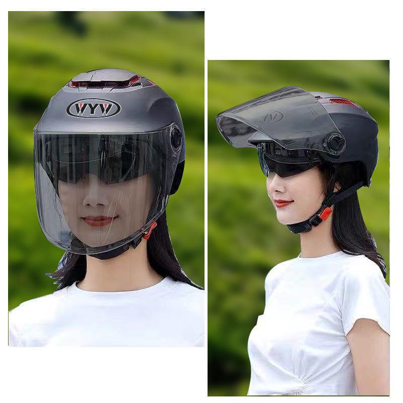 夏季头盔男女士四季通用防嗮安全帽电动摩托