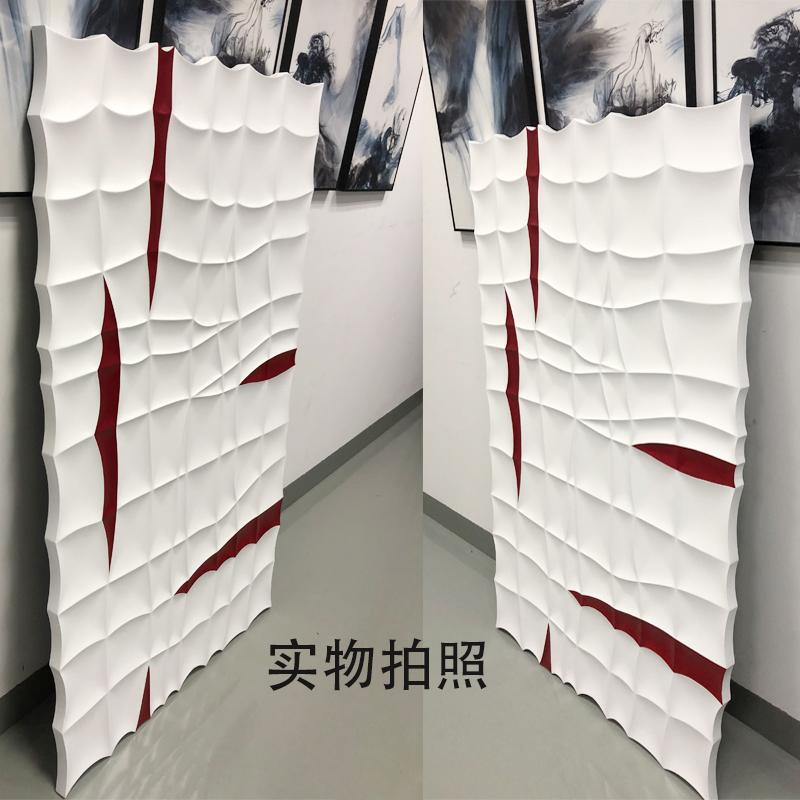 大芬油画村木雕立体装饰画样板间设计师款壁画酒店售楼部实物装置_图3
