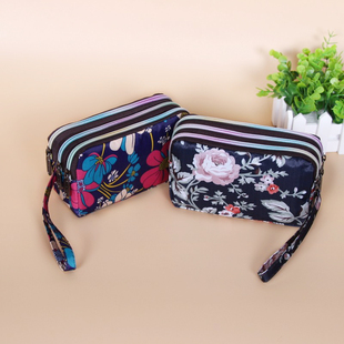 Кошелек женский длинный модель холст сцепление простой три молния сумка мисс пакет большой потенциал телефон пакет мешок