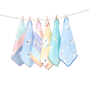 【5條裝】嬰兒純棉紗布口水巾