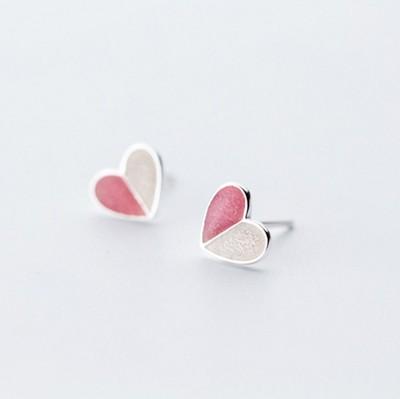 冰淇淋耳钉女纯银韩国气质简约甜美爱心仙女ins925银耳饰个性耳环