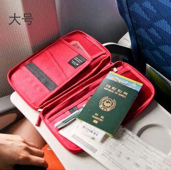韩国旅游卡包多功能证件包出国旅