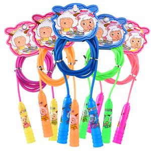 喜洋洋跳绳可调节运动小学生儿童跳绳初学者跳绳幼儿园磨砂卡通