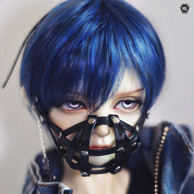 taobao agent Lazy baby bjd wig 6 4 3 points uncle sd doll dragon soul male and female baby daily short hair juvenile hair black blue brown