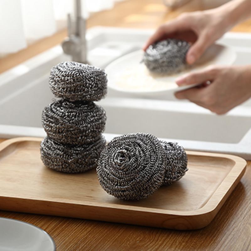 20个装钢丝球不锈钢清洁球家用厨房洗碗钢丝球钢丝棉碗刷锅铁丝球