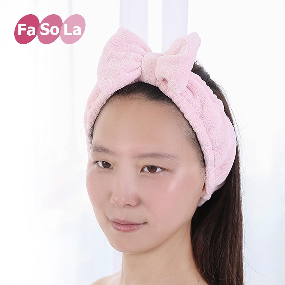 日本洗脸发带女士卡通可爱化妆头巾束发带简约个性束发巾防滑发箍