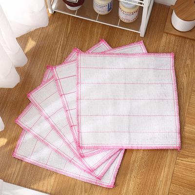 厨房吸水不掉毛沾油抹布擦碗洗碗布百洁布加厚刷碗布清洁巾擦手巾