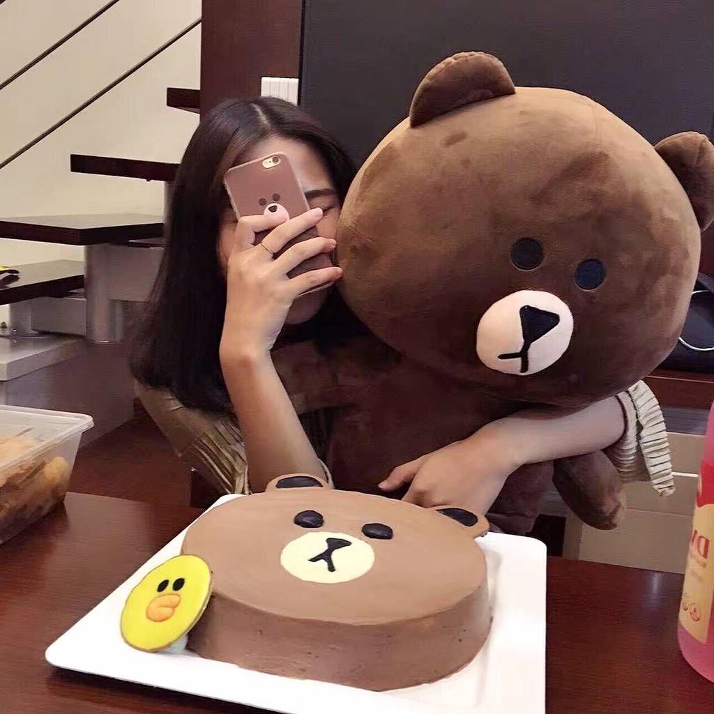 韩国布朗熊公仔可妮兔玩偶毛绒玩具大号布娃娃抱抱熊生日礼物女生