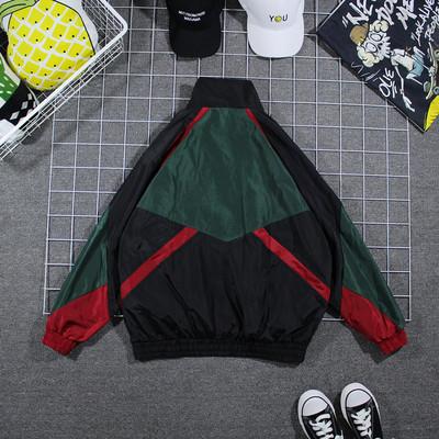 Áo khoác nam triều thương hiệu lỏng trai áo khoác Hàn Quốc phiên bản của xu hướng của mùa xuân và mùa thu màu mỏng phù hợp với hoang dã áo gió nam đoạn ngắn Áo gió