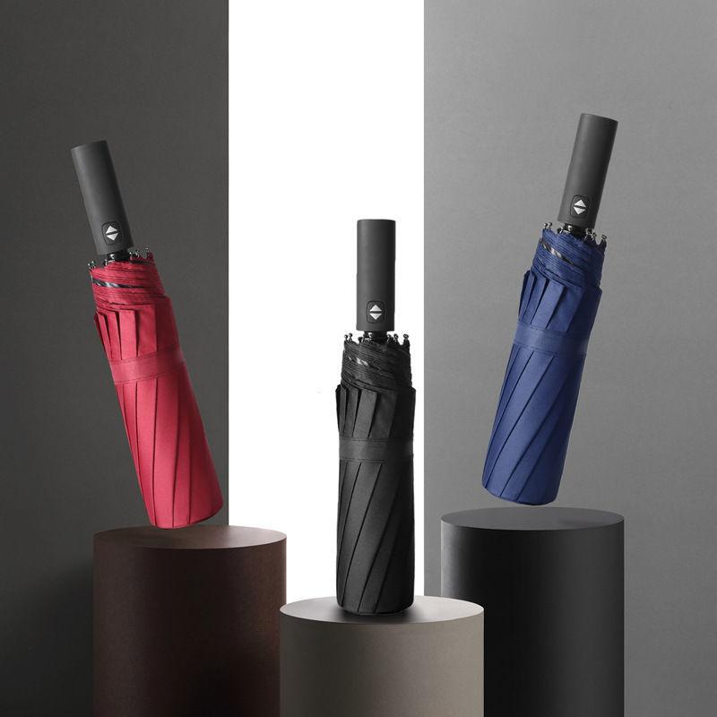 折叠全自动雨伞十骨大号情侣双人伞三折伞晴