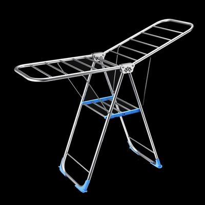不锈钢晾衣架落地折叠室内阳台外晒被子神器简易家用婴儿衣服凉杆