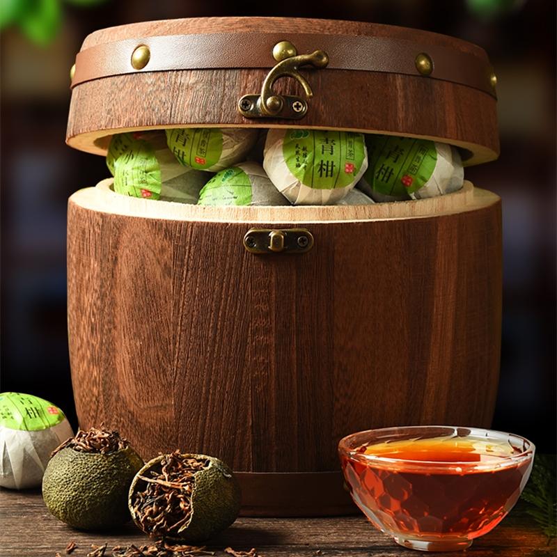中秋节送礼品小青柑普洱红茶茶叶礼盒装
