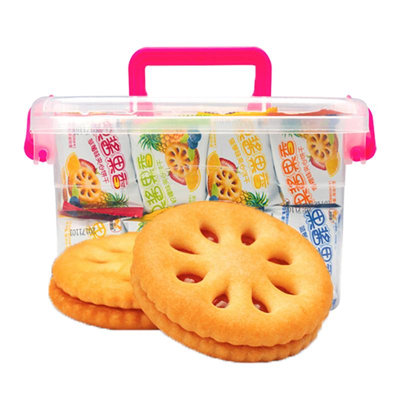 5口味果汁果酱夹心饼干2000g整箱券后16.50元