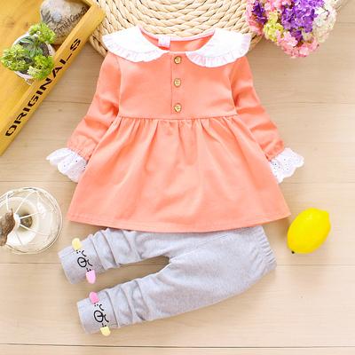 0女宝宝秋季套装春秋款2婴儿衣服1-3岁公主女童装2洋气秋装两件套