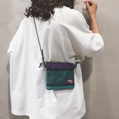 帆布小包包女包新款个性百搭单肩斜挎包纯色简约少女手机包潮