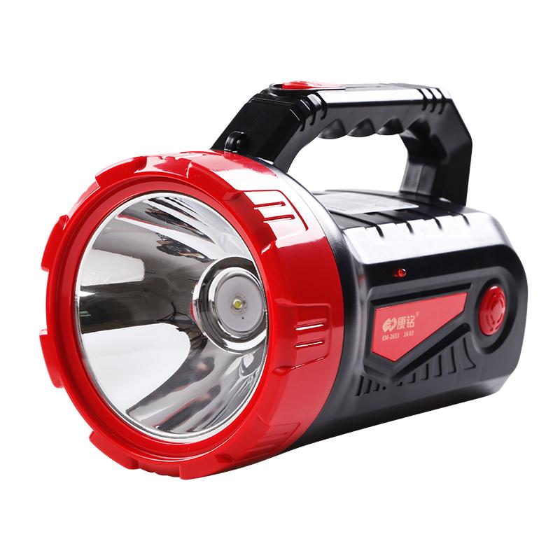 康铭LED强光大手电筒可充电 5W功率探照灯手提灯远射户外安防巡逻