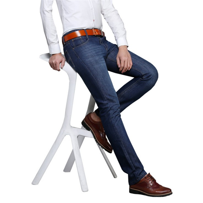冬季男士牛仔裤男直筒宽松男装裤子加绒中年商务休闲大码长裤冬天