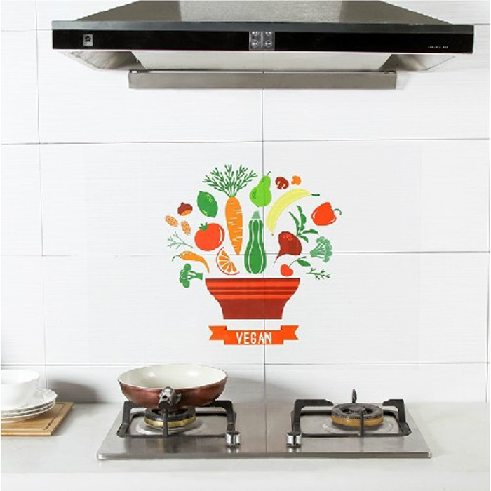 自粘耐高温防油污贴家用灶台瓷砖墙贴厨房用品防水墙纸油烟贴大全