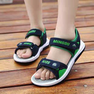 2018夏季青少年男大童凉鞋儿童男孩韩版中小学生沙滩鞋软底凉鞋子