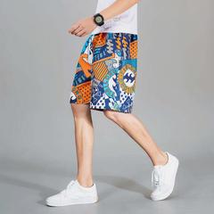 男士夏季沙滩裤短裤男士五分裤大码中裤休闲大裤衩速干裤