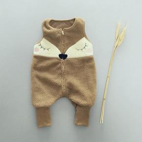 婴儿背带裤小童连体裤秋冬男童裤子宝宝打底裤冬季棉裤潮加绒加厚