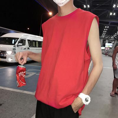 Ins gió ~ cơ bản chín màu thành đôi thể thao vest lỏng màu rắn không tay T-Shirt Harajuku mùa hè đáy áo Áo khoác đôi