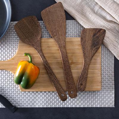 鸡翅木长柄锅铲家用木锅铲 不粘锅木头铲子厨房无漆木质炒菜木铲