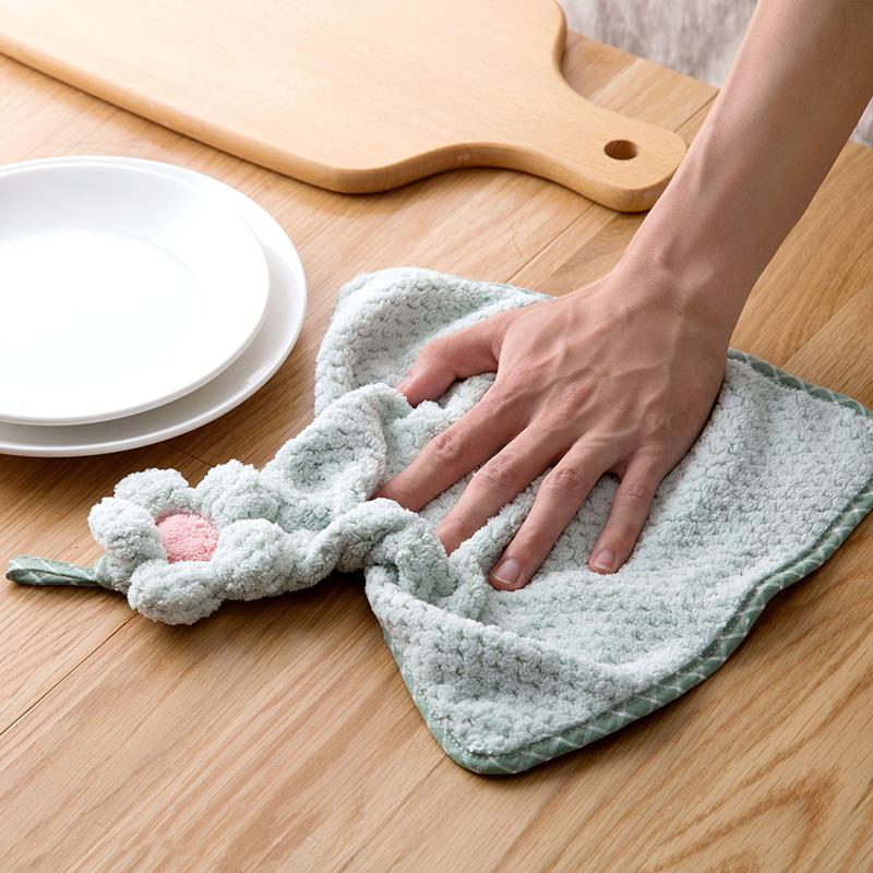 超细纤维擦手巾家用挂式洗碗巾厨房吸水抹布毛巾不掉毛清洁洗碗布