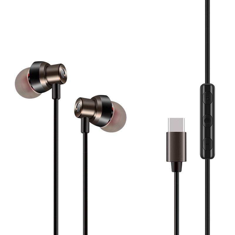 Type-c小米6耳机入耳式8青春版mix2/3八t-ypec专用typc适用于原装