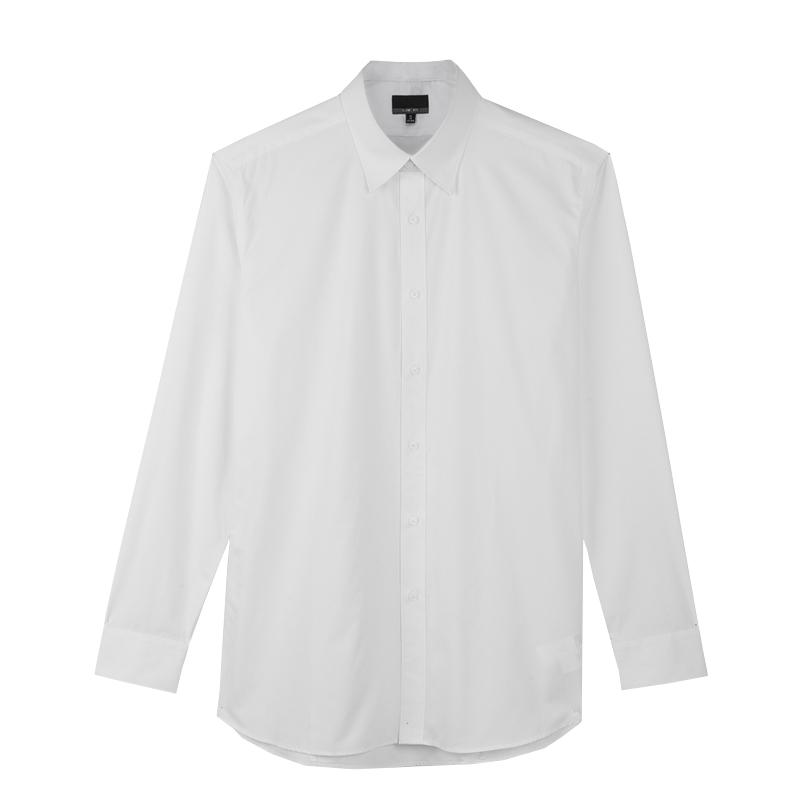 热销612件限时抢购衬衫男长袖商务装青年纯色衬衣