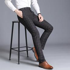 西裤男韩版商务休闲直筒西装裤正装男士西裤修身224-K202-P55