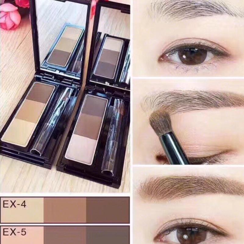 鱼鱼!KATE/凯朵三色立体眉粉棕色带眉刷浅棕色EX4深棕色EX5