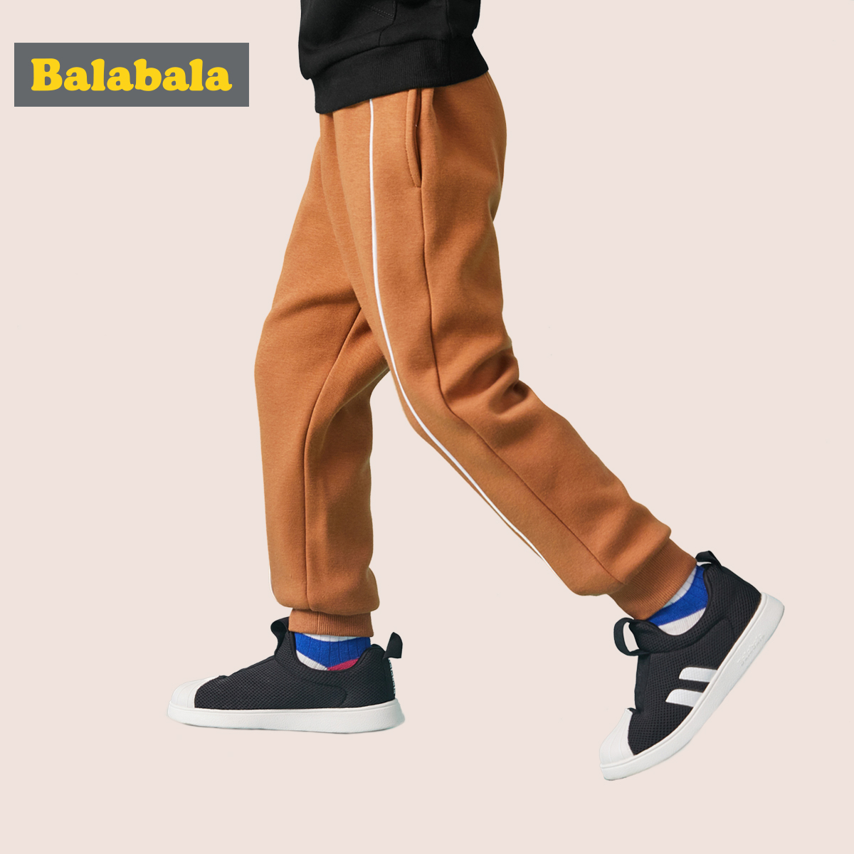 淘寶親寶貝入駐品牌:巴拉巴拉 兒童 加絨 運動休閑褲