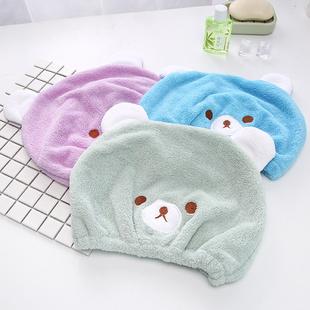 可爱小熊快速吸水浴帽干毛巾