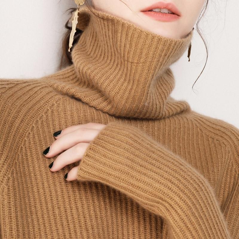 【恒源祥】高领羊绒加厚修身毛衣