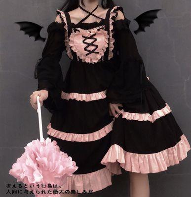 taobao agent {Quick group spot}Sugar girl ~ original design Lolita soft Fufu solid color sling jsk dress summer dress