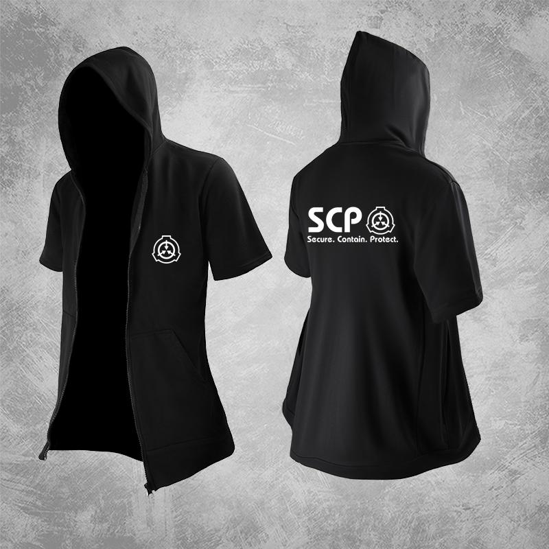 SCP Foundation Áo khoác ngoài áo len Áo khoác ngắn tay Anime Điều khiển ngăn chặn Quần áo áo gió nam mùa hè - Carton / Hoạt hình liên quan