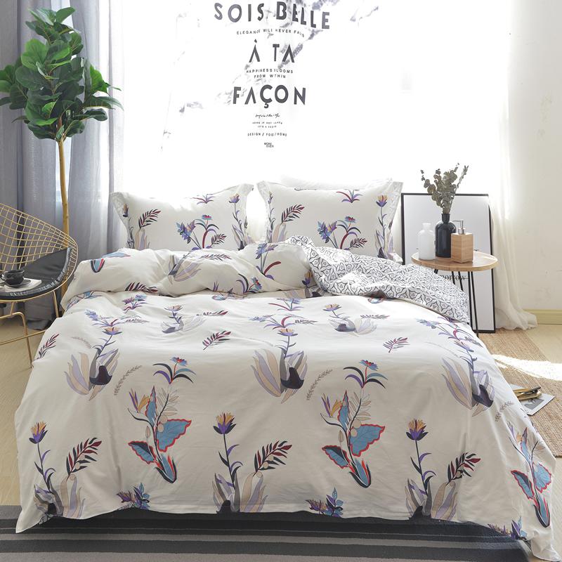 款全棉床上四件套北欧清新系列纯棉被套床单