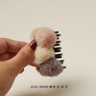 毛毛虫~毛球冰淇淋发抓发饰头饰发绳
