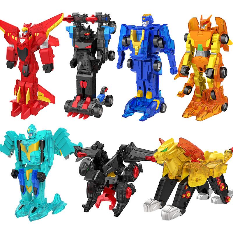 爆暴速合体玩具三宝正版新品翎空天威甲猎车兽魂变形机器人新瑞天