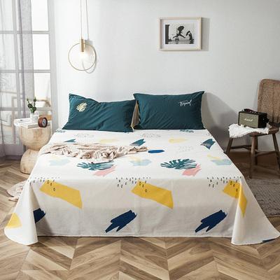 小清新ins风床单单件纯棉北欧 全棉印花床笠全包床罩1.5米1.8m